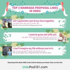 Top 3 marriage proposal lines in Urdu