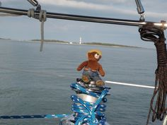 Smokey sailed with us to Cape Lookout, NC