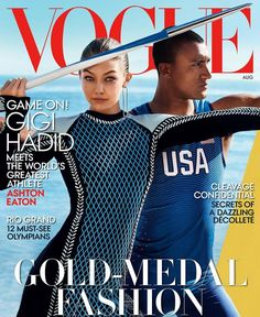 Gigi Hadid & Ashton Eaton for Vogue US - August 2016