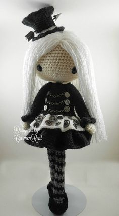 crochet steampunk doll   Crochet abbreviations in swedish, american english and british english ...