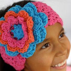 Crochet Flower Headband (Free Pattern)