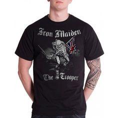Tricou Iron Maiden: Sketched Trooper Iron Maiden, Metalhead, Mens Tops, T Shirt, Fashion, Supreme T Shirt, Moda, Tee Shirt, Fashion Styles