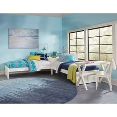 Shop for Hillsdale Pulse White Wood L-shape Bed. Get free delivery at Overstock.com - Your Online Furniture Outlet Store! Get 5% in rewards with Club O! - 24783779