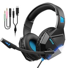 [New Edition] Mpow Gaming Headset with Surround Sound, PC Headset with Crystal Clear Mic, Speaker Drivers, Volume & Mute Control Universal Gaming Headphones for Xbox One(Black) Xbox 360, Playstation, Xbox One Controller, Xbox Headset, Gaming Headphones, Sports Headphones, Nintendo Ds, Nintendo Switch, Wii