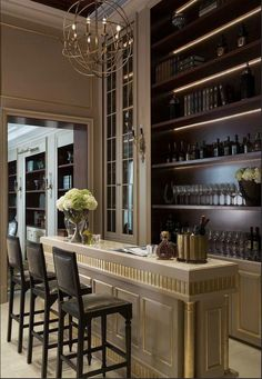 Modern home bar design ideas Modern Home Bar Designs, Home Modern, Modern Luxury, Modern Design, Bar Lounge, Bar Interior Design, Home Design, Design Ideas, Interior Decorating