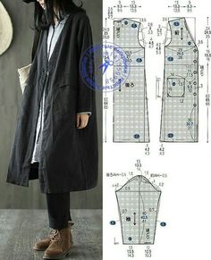 VK is the largest European social network with more than 100 million active users. Vogue Patterns, Coat Patterns, Dress Sewing Patterns, Clothing Patterns, Sewing Clothes Women, Diy Clothes, Jacket Style, Jacket Dress, Umgestaltete Shirts