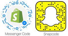 Shopify Messenger Code vs Snapchat snapcode