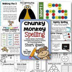 Lots of fun ideas for practicing short vowel spelling!  Includes poems, craftivities, printables, word lists, and literacy centers for each short vowel. (scheduled via http://www.tailwindapp.com?utm_source=pinterest&utm_medium=twpin&utm_content=post104115667&utm_campaign=scheduler_attribution)