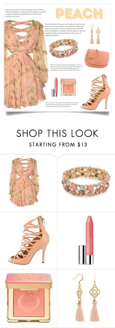 """""""PEACH"""" by iamkritika ❤ liked on Polyvore featuring Zimmermann, Design Lab, Isabel Marant, Clinique and Too Faced Cosmetics"""