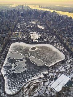 New York sous la neige.