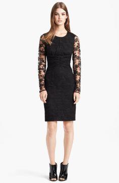 Burberry London Long Sleeve Lace Dress