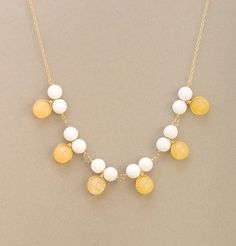 Astor Two-Tone Cluster Bib Necklace. love all of her stuff. jess lc