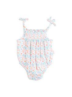 Baby Girls + Accessories Shirred Bodysuit Super White bodysuit