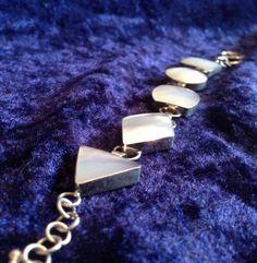 pearl geometric bracelet by FlamesJewels on Etsy