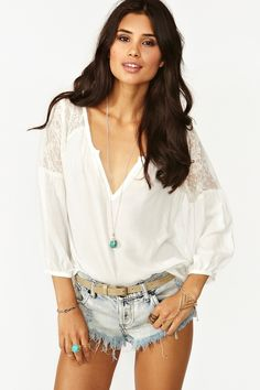 Jardin Lace Blouse by Nastygal - Secret Sale of the Day 70% Off