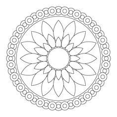 Free Flower Mandala Coloring Pages. 30 Free Flower Mandala Coloring Pages. Grab This Free Flower themed Mandala Adult Coloring Page Mandala Art, Mandala Design, Design Lotus, Easy Mandala Drawing, Simple Mandala, Mandalas Painting, Mandalas Drawing, Mandala Pattern, Lotus Mandala