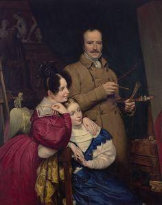 Paul Carpentier (1787-1877), Portrait de l'auteur et de sa famille, 1833 Huile sur toile - 140 x 112 cm Dallas, Museum of Art