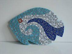Descanso para prato ou panela, base MDF, trabalho em mosaico com pastilhas de vidro. R$ 45,00