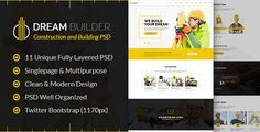 Dream Builder - Construction and Building PSD Template