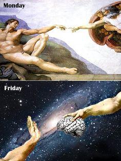 No brain on Friday...