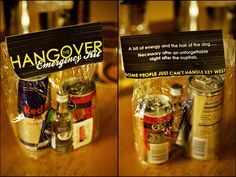 what a fun favor for a bachelorette party or a wedding after party.or just as a hangover gift Wedding After Party, Nye Party, Party Time, Bachelorette Party Favors, Wedding Favours, Wedding Ideas, Friend Wedding, Holiday Parties, Party Planning