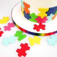 Adoption Cake, Adoption Shower, Cake Craft Shop, Puzzle Party, Geometric Cake, 50th Cake, Gotcha Day, Sugar Craft, Novelty Cakes