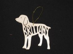 Brittany spaniel ornament from Etsy, $14.99
