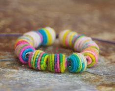 Kleine handgefertigte Stoff Textil Perlen für Artisan