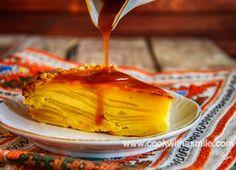 лесна ябълкова торта с карамелен сос