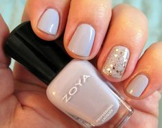 DIY Nail Art Alert: This Is The Easiest Accent Nail Ever!: Girls in the Beauty Department: Beauty: glamour.com