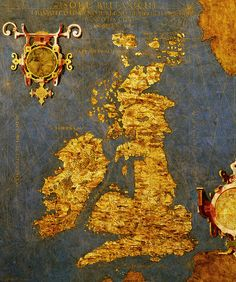 1565 map of Great BrItain and Ireland by Egnazio Danti. Looks like Liverpool did not exist back then :-)