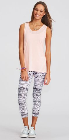 Love these pastel colors...especially when paired with those Black & White Tribal Legging