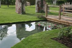 Natural Swimming pond Old Manor House Garden