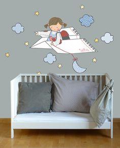 VINILOS INFANTILES PERSONALIZADOS: habitacion infantil con vinilo