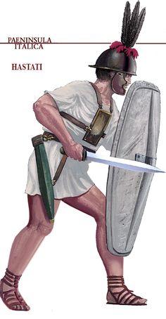 Римский гастат, начало III века до н.э.