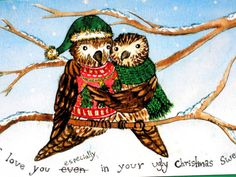 Christmas Card-Ugly Christmas Sweater  I still by EmmysAnimals