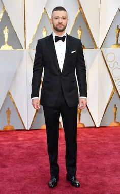 Justin Timberlake from Oscars 2017: Best Dressed Men  JT's textured Tom Ford suit plays a little trick on the eye, in the best way.