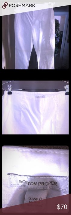 Women's white pants from Boston proper Women's white pants from Boston proper only worn once Boston Proper Pants Trousers