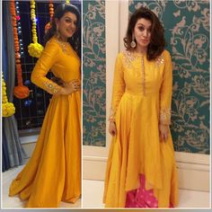 This would look great as a mayoon outfit Red Lehenga, Lehenga Choli, Salwar Kurta, Yellow Lehenga, Long Anarkali, Sarees, Indian Attire, Indian Wear, Ethnic Fashion