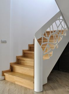 Laser cut balustrades -Faber Metal House Design, Interior Design, House Interior, Stairs Design, Cnc Design, Stairs, Interior, House Stairs, Stair Railing Design