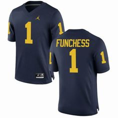 NCAA Michigan Wolverines #1 Devin Funchess Navy blue jerseys