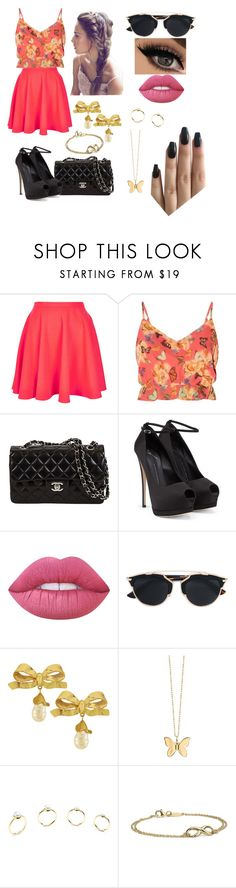 """""""Untitled #25"""" by sophieamazing ❤ liked on Polyvore featuring Topshop, Parisian, Giuseppe Zanotti, Lime Crime, Christian Dior, Vintage, Sydney Evan, Eddie Borgo and Blue Nile"""