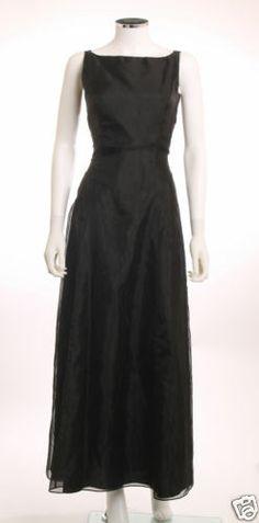 DAVE & JOHNNY ROUND NECK PRINCESS SEAMS BLACK FORMAL DRESS SZ 7/8