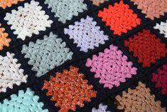 Pachwork Multicoloured Crocheted Baby Blanket Squares Pram Blanket Handmade Home Decor Retro – baby pillow toy Baby Blanket Crochet, Crochet Baby, Linen Upholstery Fabric, Retro Baby, Baby Pillows, Handmade Home Decor, Hand Crochet, Squares, Bedspread
