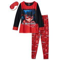 Girls 4-10 Miraculous Ladybug Pajama Set, Girl's, Size: