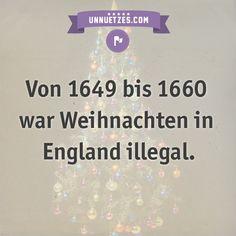 Deshalb war Weihnachten verboten: http://www.unnuetzes.com/wissen/9897/illegales-weihnachten/