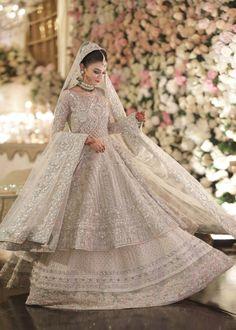 Indian/Pakistani Women's Bridal Weeding Engagement Gown Walima Dress Nikah New Asian Bridal Dresses, Pakistani Wedding Outfits, Indian Bridal Outfits, Pakistani Bridal Dresses, Pakistani Wedding Dresses, Pakistani Dress Design, Pakistani Suits, Pakistani Designers, Bridal Lenghas