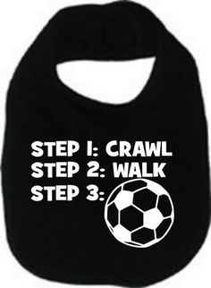 Crawl walk soccer sports cool custom  baby infant bib color choice pink blue black white shower  gift idea on Etsy, 35,94 kr