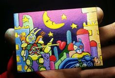 """JOSE Juarez  PAINTING ACEO """"dying of sadness"""" animals fantasy ooak raw  new art #OutsiderArt Types Of Art Styles, Les Brown, Sky Sea, Outsider Art, Large Painting, My Sunshine, Amazing Places, Art Forms, New Art"""