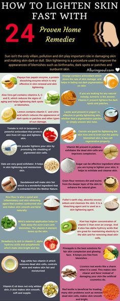 Natural & DIY Skin Care : How to Lighten Skin Fast  24 Proven Home remedies